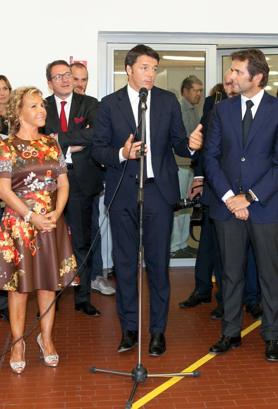 President of Counsel of Ministers Matteo Renzi visits the Blufin S.p.A. Group