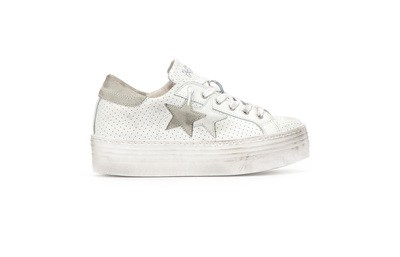 Low sneaker high sole white-ice