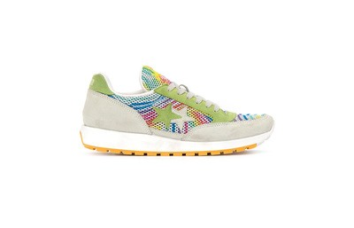 Running sneakers multicolor-apple green