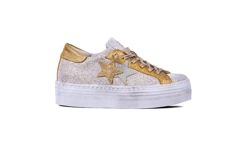 SNEAKER LOW HIGH SOLE ICE-GOLD