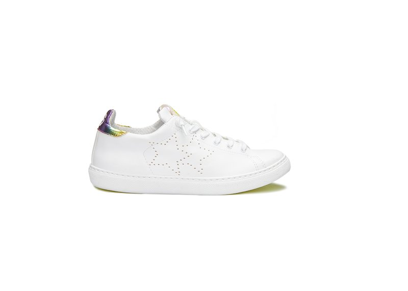 WHITE MULTICOLOUR LOW SNEAKERS