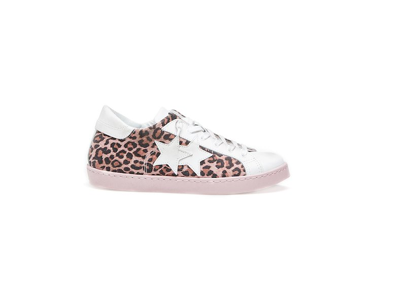 PINK SPOTTED LOW SNEAKERS