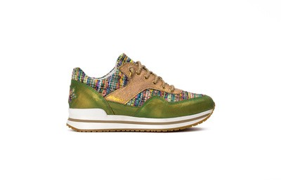 Sneaker low verde/multicolor/oro