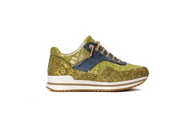 Sneaker low gold/yellow/cyan