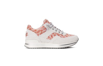 Sneaker low salmon/white