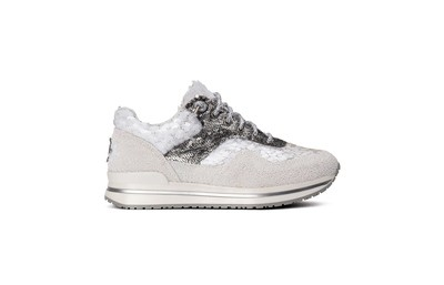 Sneaker low white/ silver