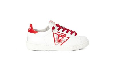 SNEAKER ILLUMINATI CREW WHITE-RED