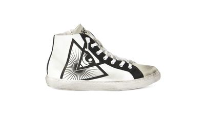SNEAKER ILLUMINATI CREW WHITE-BLACK