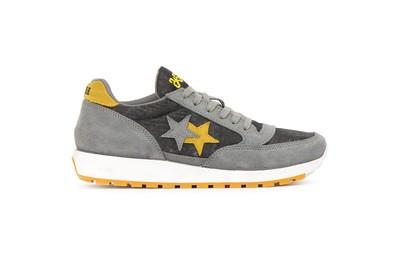 Running sneakers grey-yellow