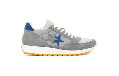 Sneaker running grigio-azzurro