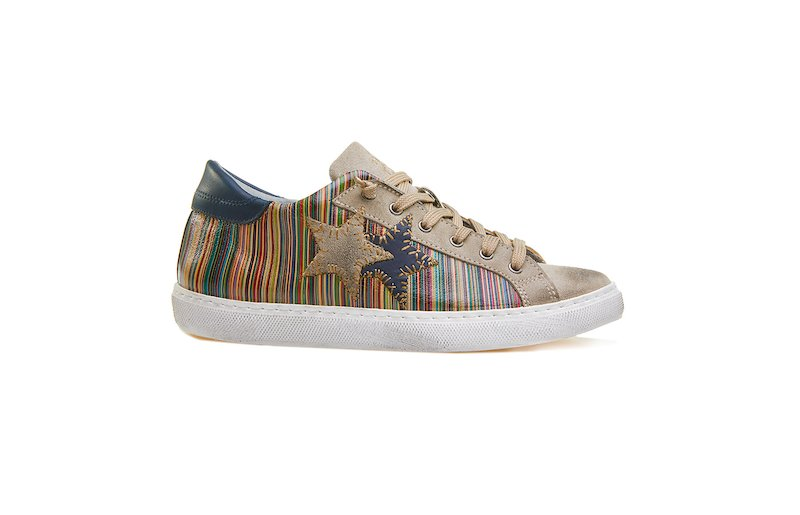 LOW SNEAKER MULTICOLOR-TAUPE