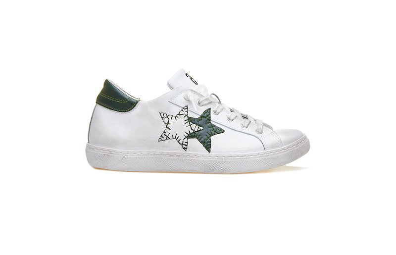 LOW SNEAKER WHITE-DARK GREEN