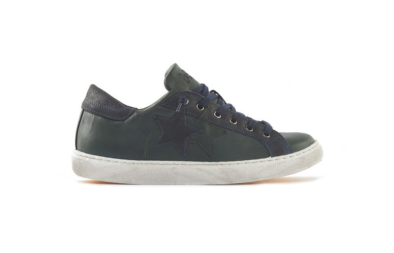 SNEAKER LOW DARK GREEN-BLUE