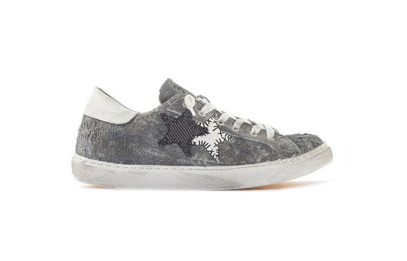 SNEAKER LOW GREY-WHITE