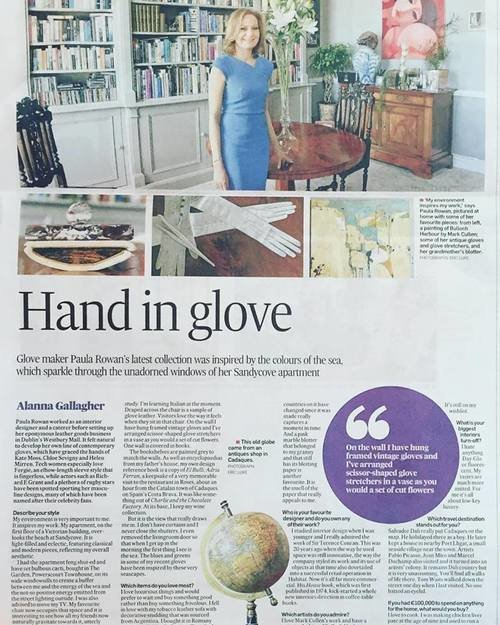 The Irish Times: Piece of Me <br> Written by Alannah Gallagher, this piece discusses Paula's Seaside home as well as her inspirations and three favourite pieces...