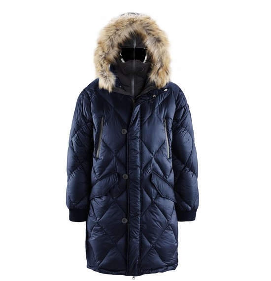 Men's real down parka