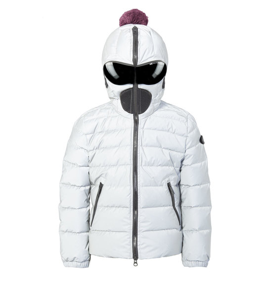 Girls' down jacket reflective