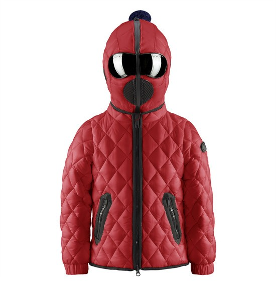 Girls' quilted down jacket