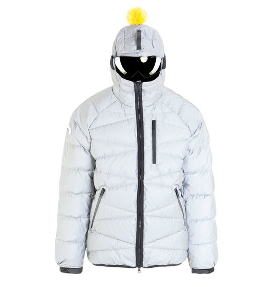 Men's reflective down jacket