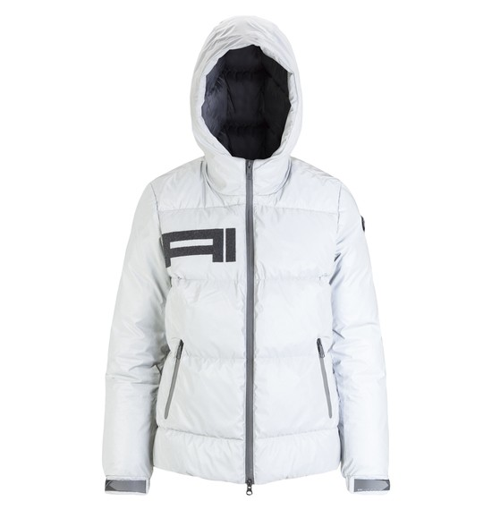 Women's reflective down jacket