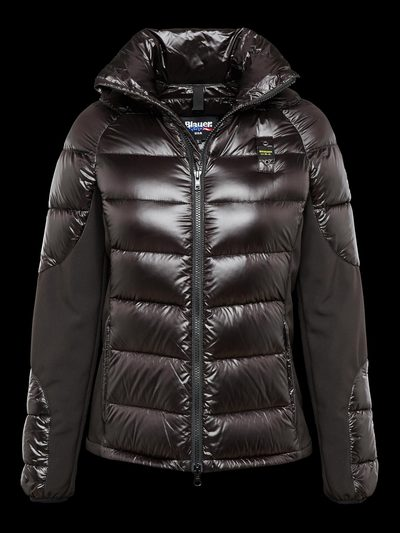 SHORT GLOSSY DOWN JACKET