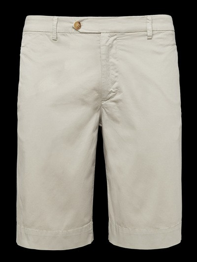 STRETCH SATIN BERMUDA SHORTS