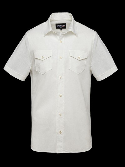 COTTON-LINEN POPLIN SHIRT