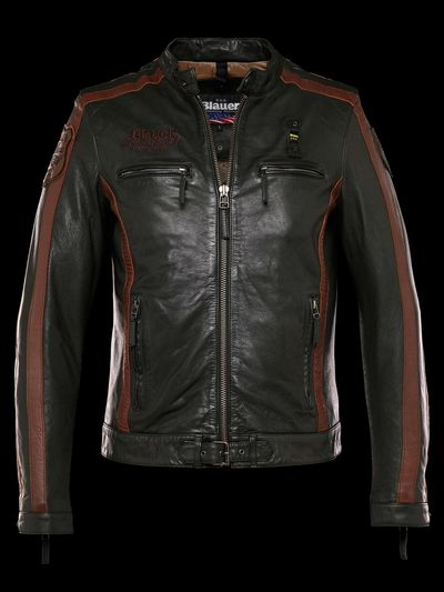 HERITAGE SPORT LEATHER BIKER JACKET