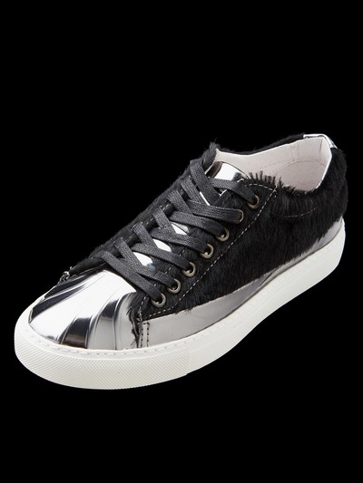 CALF HAIR CUPTOE SNEAKERS