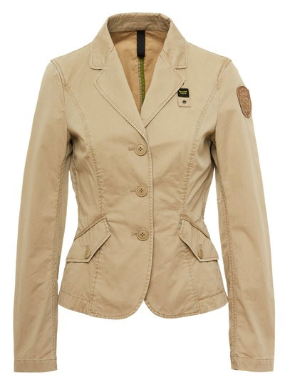 UNLINED SHORT DOUBLE LAPEL JACKET