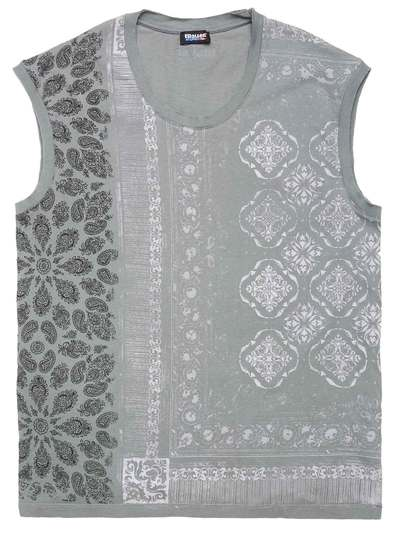 SLEEVELESS PAISLEY T-SHIRT