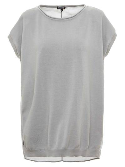 TWO DOUBLE TEXTILE T-SHIRT WITH ROUND NECK