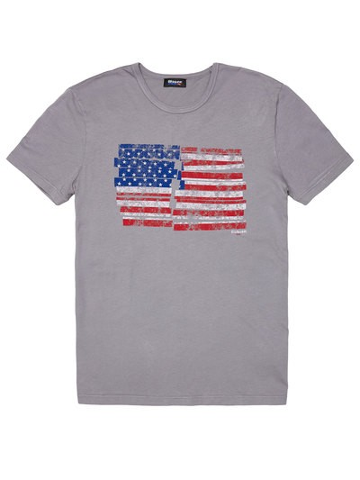 T-SHIRT CON BANDIERA USA