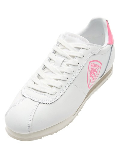 BOWLING LEATHER SNEAKER WITH COLORED DETAILS