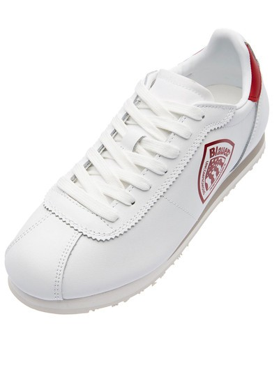BOWLING STYLE LEATHER SNEAKERS