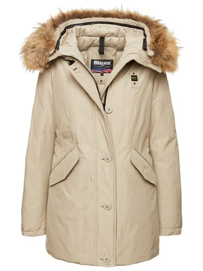PARKA WITH HOOD IN TASLAN AND DOWN HARPER