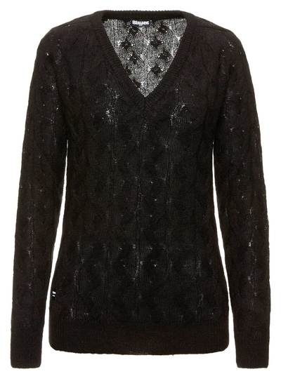 SWEATER IN PLEATED MOHAIR WOOL