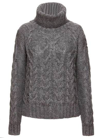 HIGH NECK SWEATER IN MOHAIR WOOL