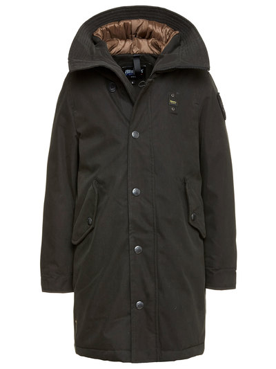 BOY'S GABARDINE PARKA WITH HOOD