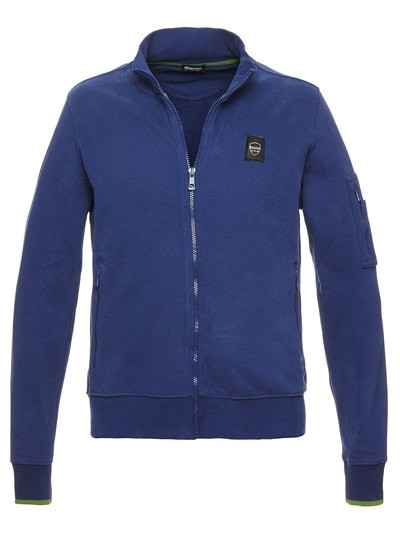 COTTON SWEATSHIRT WITH ZIP