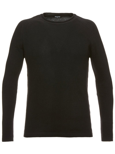 WOOL AND CASHMERE BLEND MEN'S CREW NECK SWEATER