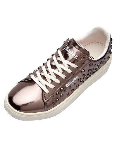 LAMINATED SNEAKER WITH STUDS