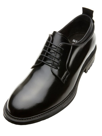 SHINY LEATHER MEN'S DERBY SHOE
