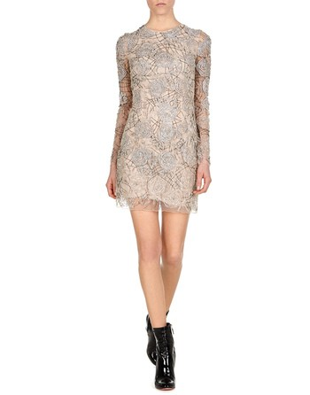 Rose Embroidered Minidress