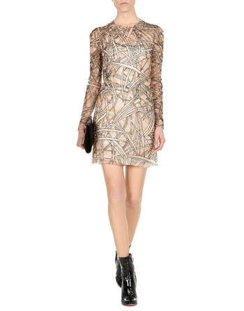 Bamboo Embroidered Sheath Dress