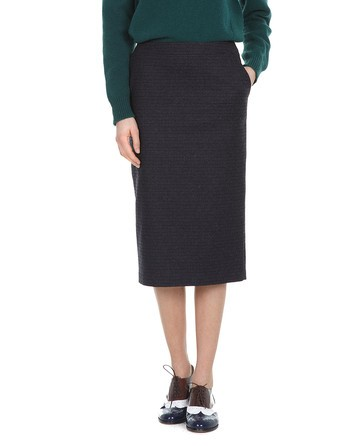 Pied-de-poule Pencil Skirt