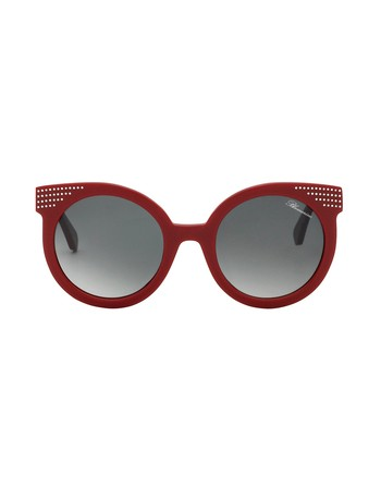 Round Shaped Sunglasses With Swarovski Crystals