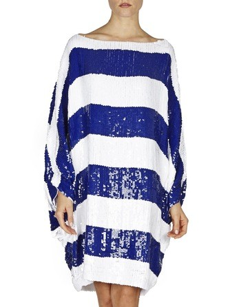 Sequin-embellished Oversized Dress