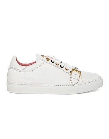 Leather Sneaker With Buckle