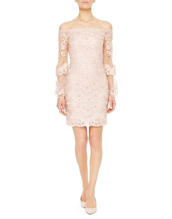 Tulle Dress With Lurex Macramé Lace Inserts